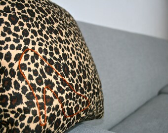 Wild Style Heel Hand Embroidered Decorative Pillow Sham