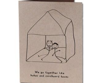 Thank You Humor Greeting Card Cardboard Box