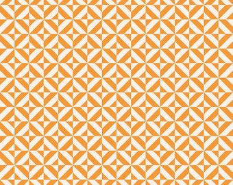 Fun and Games by Lori Whitlock for Riley Blake Designs Orange Geometric, 1/2  YARD