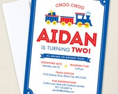 Train Party Invitations - Professionally printed *or* DIY printable
