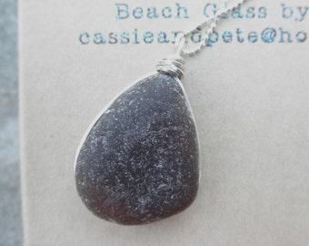 Its A Wrap Brown Beach Glass Necklace