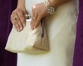 Bridal Clutch Brides Bridesmaids Gift Ideas Custom Champagne Perzonalized Clutches Wedding by Lolis Creations