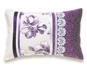 Decorative Purple Lavender Lilac Lumbar Pillow Case 12 x 18 in IRMA DESIGN Limited Edition - DelindaBoutique