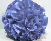 baby lilac  ruffled filled  round pouf fluffy cushion purple pillow designer pillow modern pillow retro pillow in a round 16 inch diameter