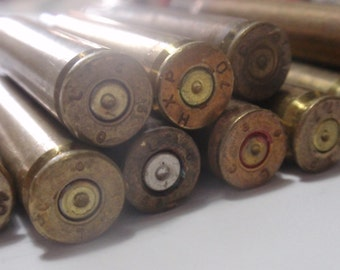 Bullet Shells, Bullet Casings 12 pcs Rifle Empty brass rounds cases cartridges empties reloads spent