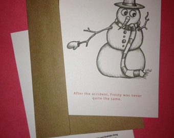 Holiday Greeting Card-Frosty's Accident