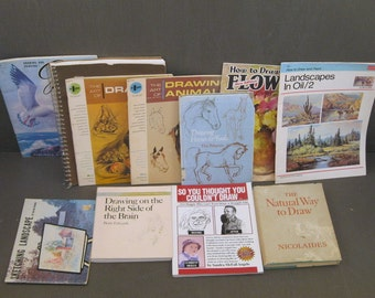 Ten Vintage Drawing Books