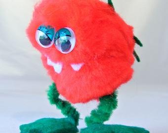 Monster Killer Tomato Figurine, Movie Reference, Cult Classic, Comedy Horror Film, 70s
