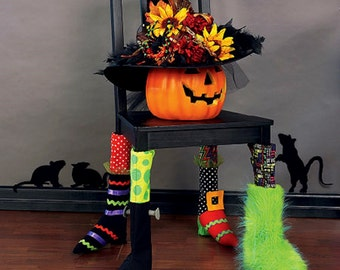 halloween decorations pattern chair socks pattern witch feet witch hat mccalls sewing - Halloween Decorations Clearance