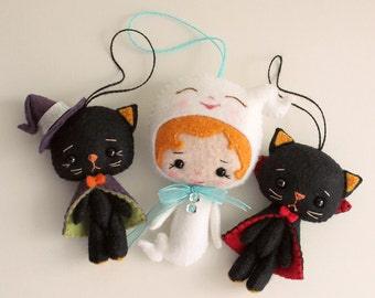 Halloween Sale!! Itty Bitty Kitties and Li'l Ghost pdf Patterns