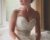 Bridal Dress Gown Beaded Jeweled Crystal Sash