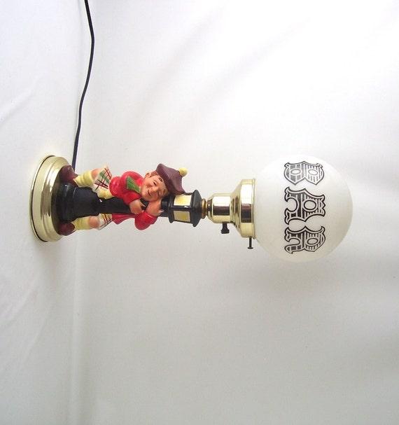 Vintage Bar Lamp Drunken Drunk Scottish Man By