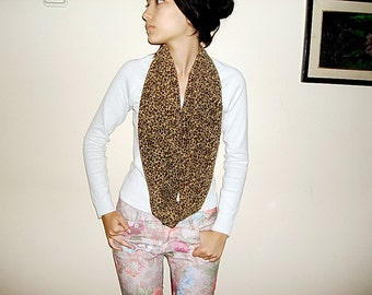 SALE 2016 Leopard Scarf  Animal Print Loop Scarf Brown Circle Fashion Scarf