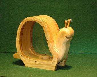 Wooden Snail Bank