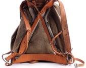1930s Backpack . Canvas Rucksack . External Frame Backpack . Military Backpack from Swedish Armu