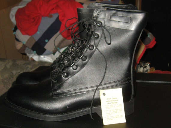 Leather Combat Boots Military Issue Steampunk