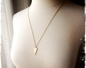 ISOSCELES NECKLACE - vintage brass - long chain - layering necklace