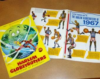Harlem Globetrotters Magazine, 1967, 41st Season, Insert, Vintage