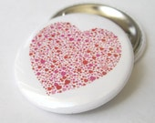 Heart made up of Hearts 1 1/2 inches (38mm) Photo Pinback Button, Magnet or Key Chain