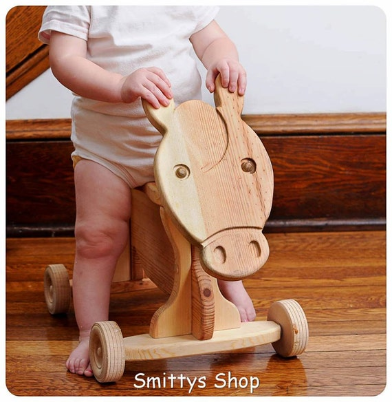 toddler ride on toy solid wood horse by smittysshop on etsy. Black Bedroom Furniture Sets. Home Design Ideas