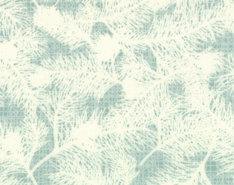 WINTER'S LANE Moda modern quilt fabric Kate & Birdie Christmas aqua mint woodland pine evergreen 1 yard 13094-19