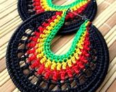 Rasta Crochet Hoops