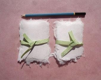 Adorable white abaca kozo handmade paper gift tags