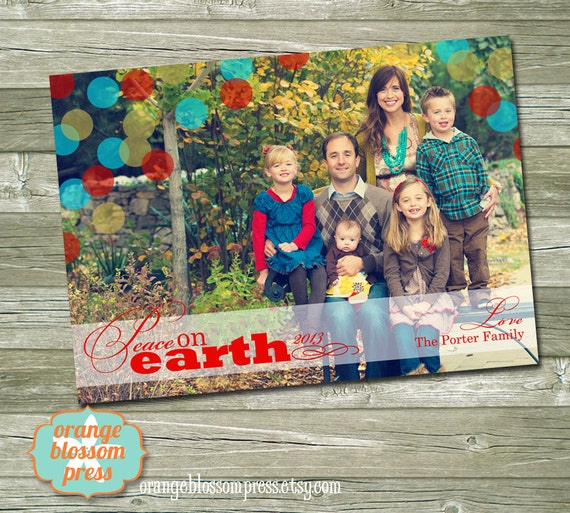 Costco Christmas Photo Cards Online: Photo Christmas Card 4x6 5x7 Or 6x7.5 Costco Size Peace