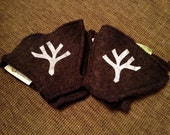 Helmuffs - Chocolate Brown with Reflective Bare Tree Branch (HmF359)
