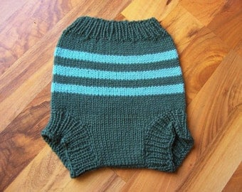 Hand Knitted Wool Diaper Cover Baby Wool Cover Wool Diaper Soaker Wool Nappy Cover Wool Cloth Diaper size Large 12-18 Months