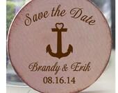 Custom magnets 25 Custom Save the date/Wedding Favor Wood Magnets heart shape LOVE theme-custom made