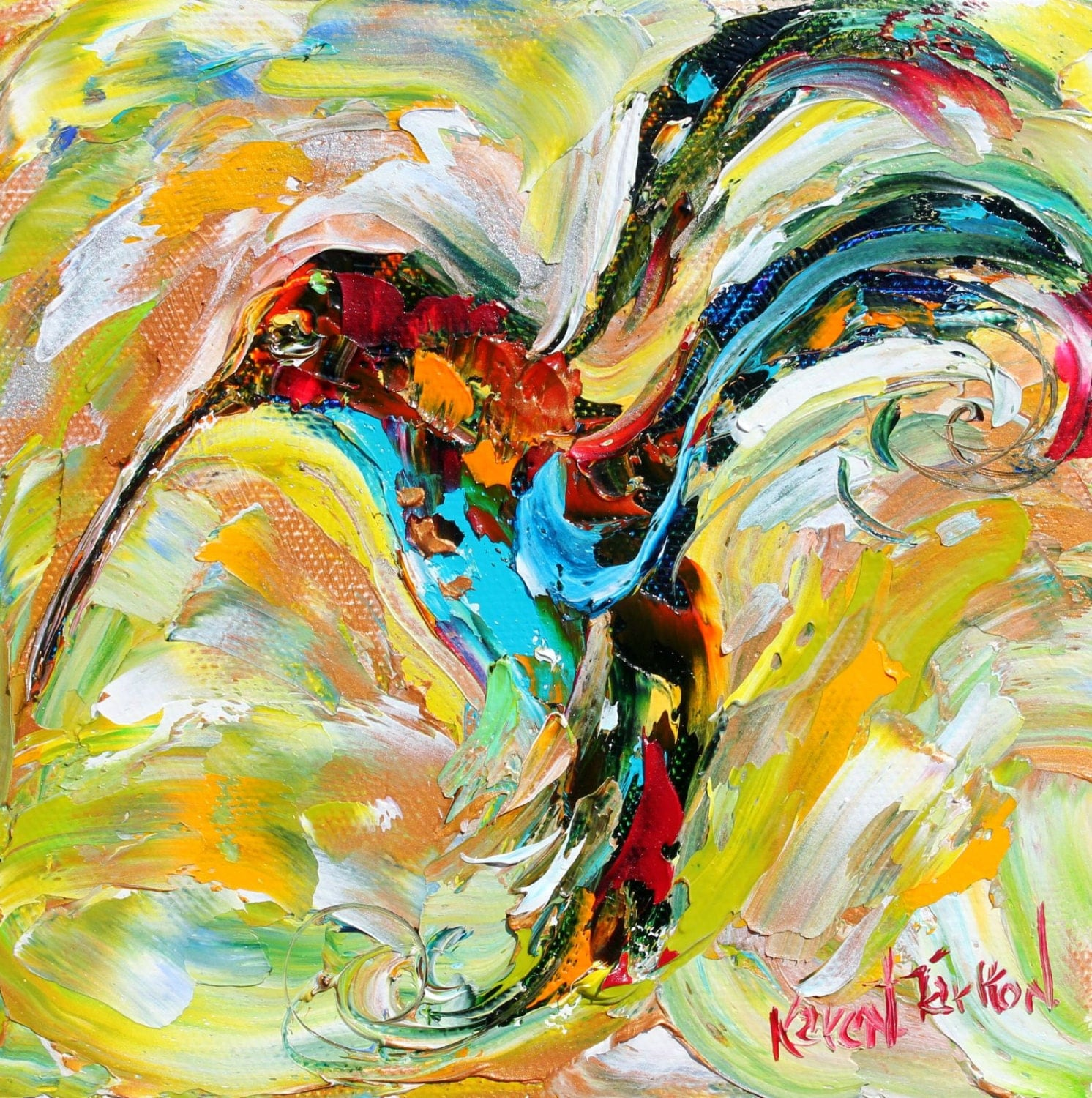 the gallery for abstract bird paintings