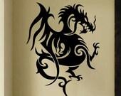Tribal Oriental Dragon Decal, Vinyl Wall Lettering, Vinyl Wall Decals, Vinyl Letters, Vinyl Lettering, Wall Quotes, Teen Room, Dragon Art