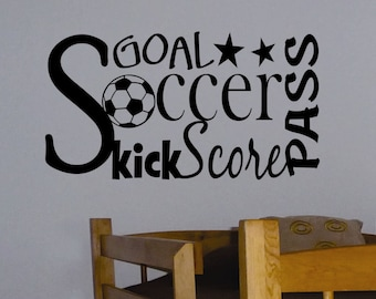 Soccer Word Collage, Soccer Quote, Vinyl Wall Lettering, Vinyl Wall Decals, Vinyl Decals, Vinyl Letters, Wall Quotes, Sports Decal