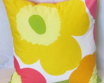 Unikko Marimekko pillow cover in authentic fabric from Finland, Large Unikko,  get 30% off second one, FREE SHIPPING Canada and US
