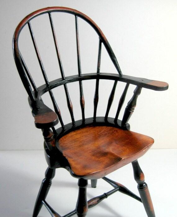 Doll Size Windsor Chair Vintage Windsor Chair Wood Vintage
