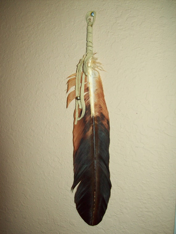 replica eagle feather hair tie native american by ...