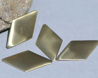 Diamond 36mm x 19.5mm Cutout Metal Blanks Shape Form Metalworking Stamping Texturing Soldering Blanks Variety of Metals