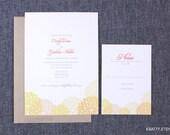 Summer Wedding Invitation with Mums - Kraft Envelopes