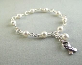 Bronchial Cancer Awareness Bracelet