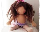 Miss Jemma, a 15 inch handmade Waldorf doll