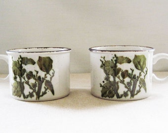 Two Midwinter Stonehenge England Green Leaves Coffee Tea Cups Mugs