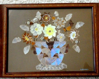 Vintage Wood Butterfly Tray//Serveware/Vintage Entertaining/Home Decor/TV Remote Tray