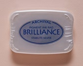 CLEARANCE Starlight Silver Brilliance Pigment Ink Pad