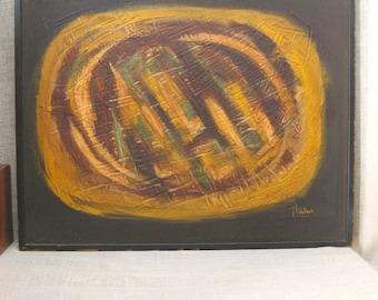 Abstract Painting , Mid-Century , Abstract , Painting , R L Walker Ohio , Mid - Century Art , Art , Fine Art , Original Art , Handmade