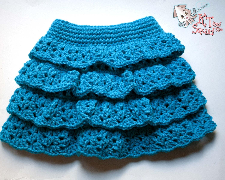 Crochet skirt pattern easy ruffle skirt pattern girls tiered