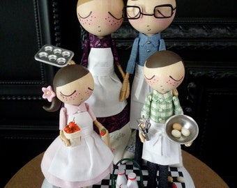 Wedding Cake Topper with Chef Theme as seen in Sur La Table - MilkTea