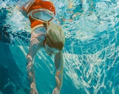 """Dive, Immerse: 14x11"""" Archival Print - Signed"""