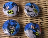 Knob Set Drawer Pull Set of 4 Batman Set  Dresser Knob Pulls Handmade Switch Plate Covers to Match in Shop