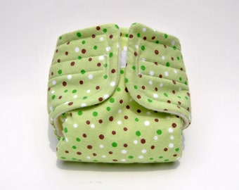 Baby Doll Diaper Green Dot - Size Large